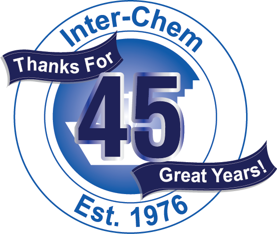 Inter-Chem 45th Anniversary Logo